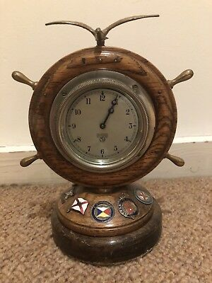 Antique Smiths Military Mantle Clock