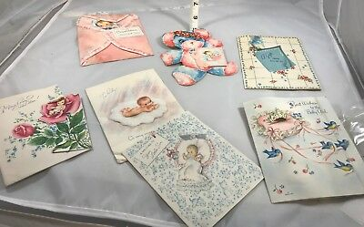 Vintage Baby Cards - Great Graphics - Must See to Appreciate - Lot #2