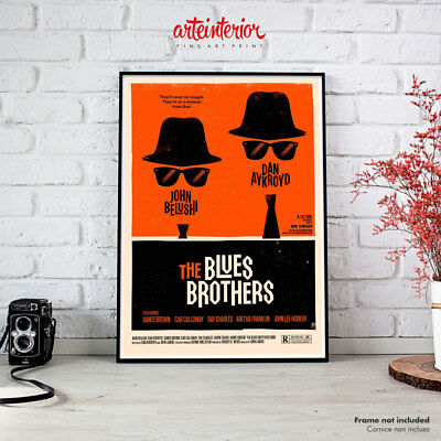 Poster Vintage - The Blues Brothers - Stampa Fine Art Alta Risoluzione Cinema HR