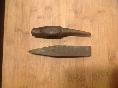 Vintage Blacksmith Hammer head Lot of 2 nice Auto Body Sledge Ball Peen
