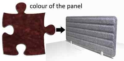 Acoustic Privacy Desk Screen Divider Panel 560mmH x 1400mmW COLOUR-PORT #29