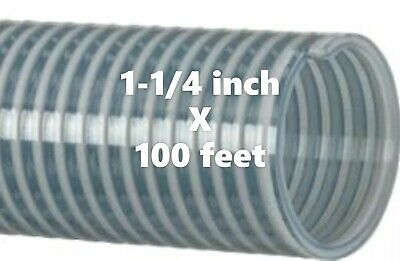 100ft. Roll Kanaflex 112 CL125 1-1/4 inch Water Suction Hose Clear PVC