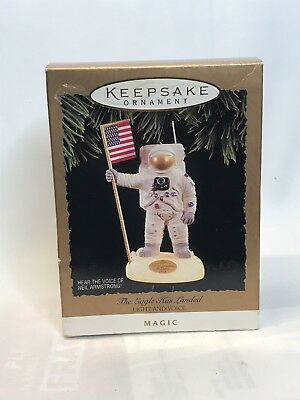 "HALLMARK Cards NASA ""The Eagle Has Landed"" Christmas Keepsake Ornament 1994"