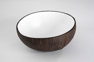 Eco-Friendly White Natural Coconut Shell Bowls (set of 2)