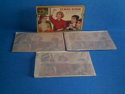 4 Mint NOS Vintage 1950's SEWING SUSAN NEEDLE BOOKS (200 needles)