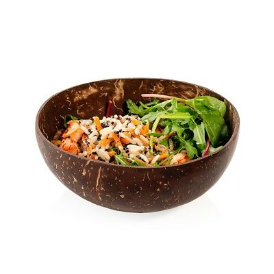 Eco-friendly Original Coconut Shell Bowls and Spoons ( set of 2 )