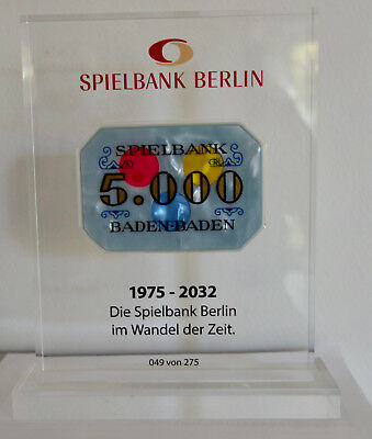 Berlin 5.000 DM Plaque in Acryl
