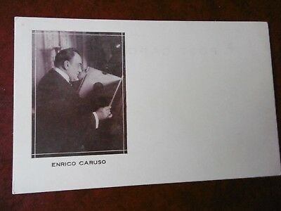 Enrico Caruso - RP - early card with gramophone record - RARE