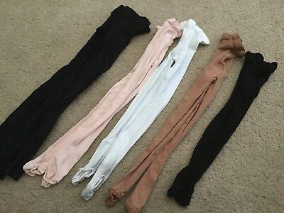 6 Pair Of Dance Tights, Size Adult S/M (Capezio, Body Wrappers)