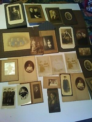 Lot of 36 + Original Antique Vintage Photo's.Fast shipping.
