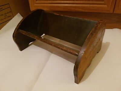 Antique Book Trough / Rest Made By Disabled Soldiers & Sailors Wwi -