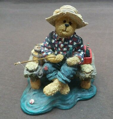 Boyds Bears And Friends-Jimmie Favorite Pastimes-Coca Cola Bearstone Collection