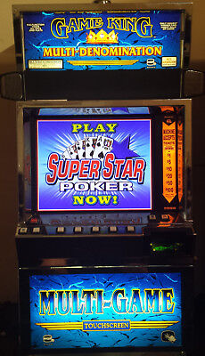 Igt Game King Super Star 100 Games Video Poker Slot Machine Lcd Monitor
