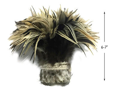 """1 Yard - 6-7"""" Golden Badger Strung Chinese Rooster Saddle Wholesale Feathers"""