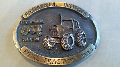 International Harvester *FARMALL WORKS FINAL TRACTOR 5-14-85* BELT BUCKLE