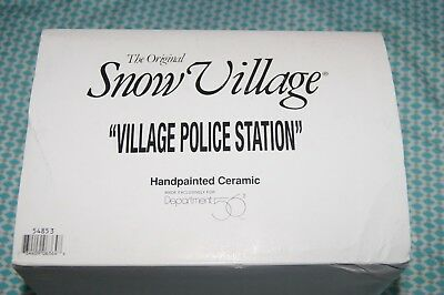 Dept 56 Snow Village Village Police Dept Not Removed from Box New