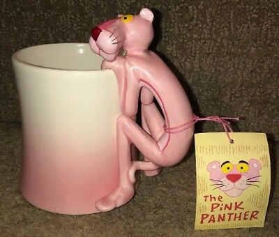 Vintage 1981 THE PINK PANTHER United Artist  COFFEE MUG Ceramic Cup