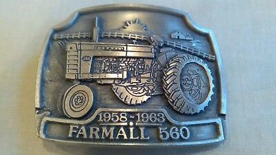 International Harvester Farmall 560 Belt Buckle Limited Edition # 185/1000