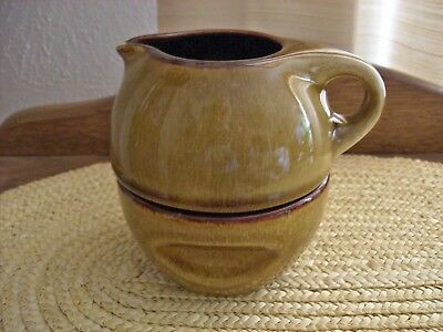 Vintage Russell Wright Stackable Sugar And Creamer Caramel Color