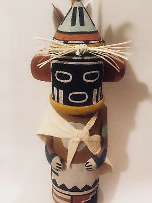 Hopi Traditional Old Style Warrior Twin Lalo Katsina Kachina Doll Carving