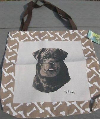 Rottweiler Dog Dogs Bones Tapestry Tote bag Totebag Linda Pickens NEW w/Tags