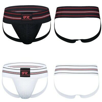 US Mens Athletic Supporter Briefs Jockstrap Underwear Sports Open Butt Lingerie