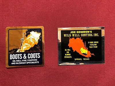 Vintage Boots And Coots Oilfield Hardhat Stickers