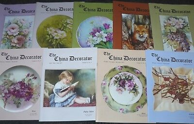 Lot of 9 Issues The China Decorator China Painting Magazine 2015 2016 2017 2018