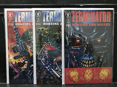 COMPLETE Terminator Hunters and Killers #1 2 3 (1992 Dark Horse) Shipping Deal!