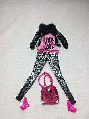 Barbie, Outfit, With Jacket Shoes And Purse, In Good Condition, Used