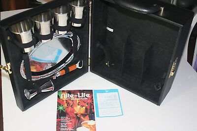 NOS Ever-Wear Travel Executair 101 Trav-L-Bar VTG MCM 1990's Black Combo Lock
