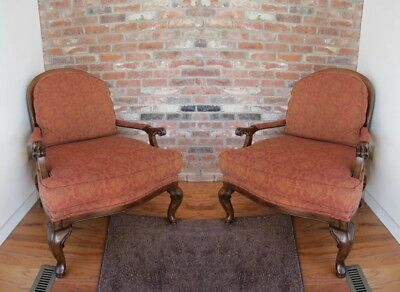 Pair of French Provincial Accent Armchairs by Alan White Company- Mint !!!
