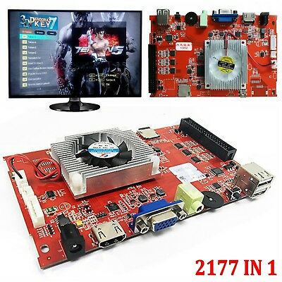 Pandora 7 3D Arcade Game Console 2177 in 1 PCB Motherboard VGA HDMI Output #JIA