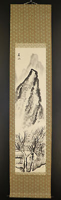 JAPANESE HANGING SCROLL ART Painting Sansui Landscape Asian antique  #E4821