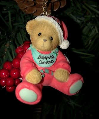 Cherished Teddies Ornament. Baby's 1st Christmas Dated 2005 Item # 4001548