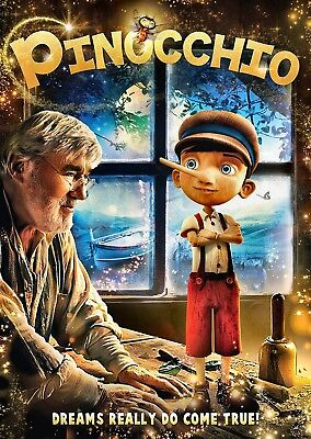 NEW DVD - PINOCCHIO - Mario Adorf - NEW CHILDREN ANIMATED CLASSIC REDONE IN 2016