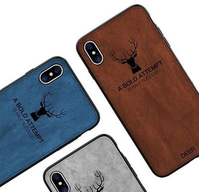 Cloth Texture Soft TPU Silicone Fit Case Cover Shell For iPhone 6 7 8 Plus X XS