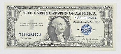 Crisp - 1957-A United States Dollar Currency $1.00 Silver Certificate *423