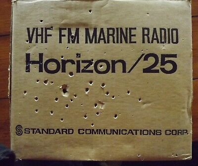 Horizon 25 Standard Communications marine radio vhf fm untested no power cord