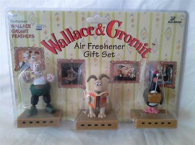 Wallace & Gromit Feathers Figurine Air Freshener Gift Set 3 Pc New