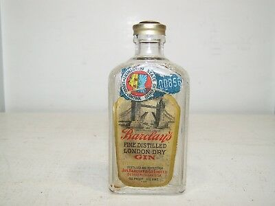 Vintage Barclay's London Gin 1/10TH Pint Bottle