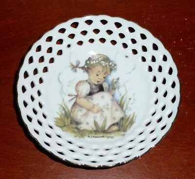 Mj Hummel Lily Of The Valley Reutter Porzellan Germany Open Lace Small Dish