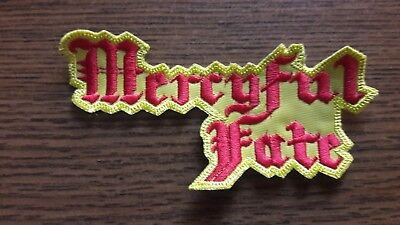 Mercyful Fate,sew On Yellow And Red Embroidered Patch