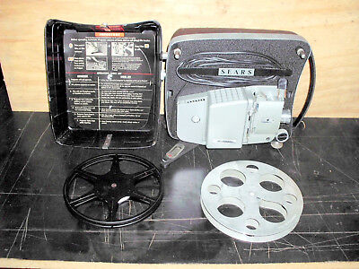 Vintage SEARS Fully Automatic  8mm  Movie Projector  /  Runs
