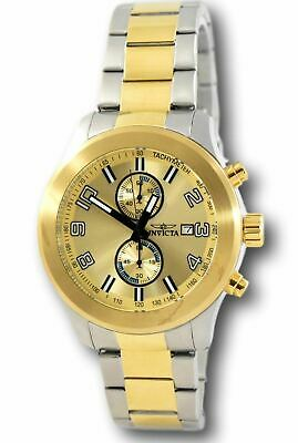 Invicta Specialty 21491 Men's Gold Dial Stainless Steel Chronograph Watch 48mm