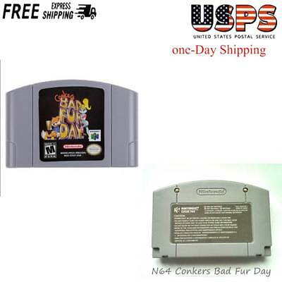 Tested Conker's Bad Fur Day Nintendo 64 N64 System  Game Video Great Exclusive