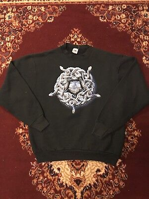 Vintage White Snake 1990-1991 Liquor And Poker Tour Crewneck Double Sided XL