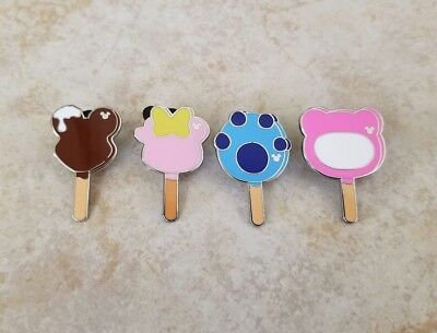 Pin Trading Disney Pins Lot of 4 Set Mickey Mouse Shaped Ice Cream Bar Stitch