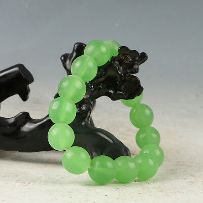 Chinese Hand-carved Natural Jade Bead Bracelet RS002