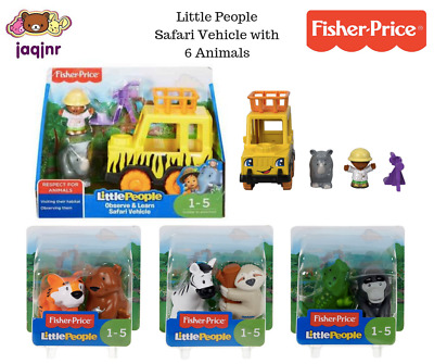 Fisher-Price Little People OBSERVE & LEARN SAFARI VEHICLE + 6 ANIMALS *Age 1-5*